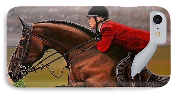 Horse iPhone 8 Case - Meredith Michaels Beerbaum by Paul Meijering