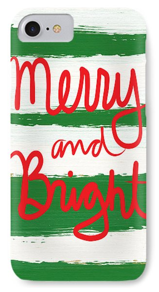Merry And Bright- Greeting Card IPhone Case