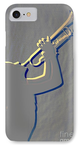 Metal Print Of Trumpet Music Instrument And Girl 3016.04 IPhone Case