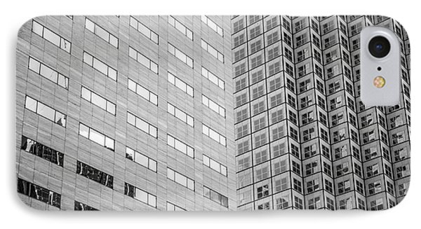 Miami Architecture Detail 2 - Black And White - Square Crop IPhone Case