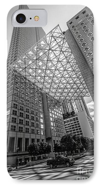 Miami Downtown Shadow Play - Black And White IPhone Case