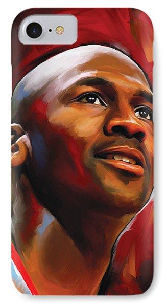 Michael Jordan Artwork 2 IPhone Case