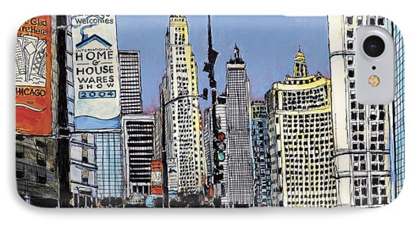 Michigan Ave Chicago  IPhone Case