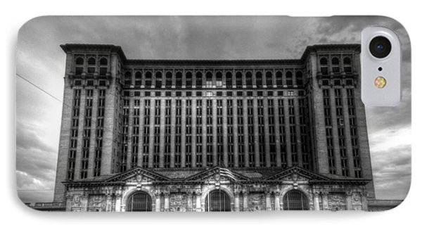 Michigan Central Station Bw IPhone Case
