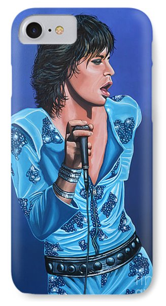 Musicians iPhone 8 Case - Mick Jagger by Paul Meijering