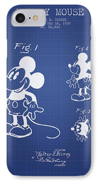 Mickey Mouse Patent From 1930- Blueprint IPhone Case