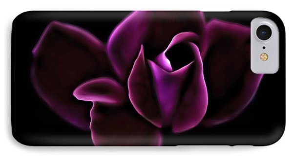 Midnight Knockout Rose IPhone Case