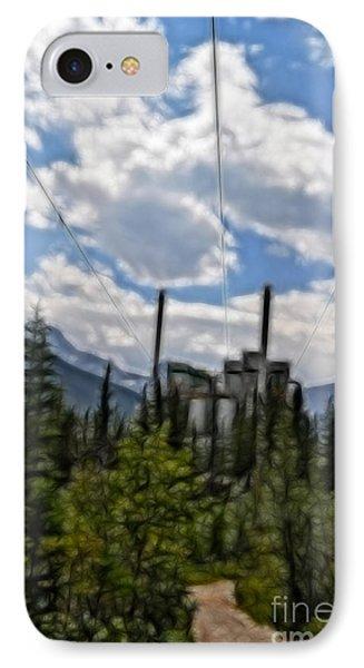 Mining Plant Fractal IPhone Case