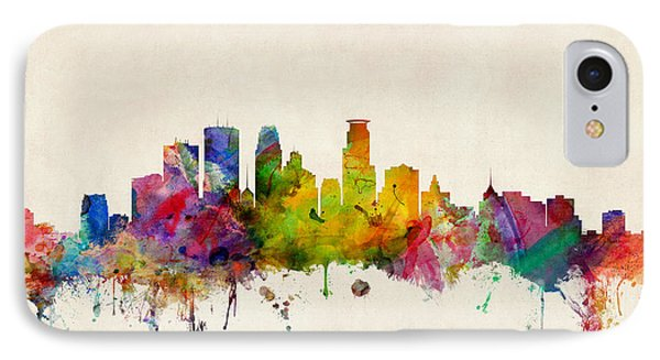 Minneapolis Minnesota Skyline IPhone Case