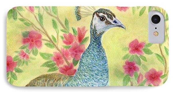 Miss Peahen In The Garden IPhone Case