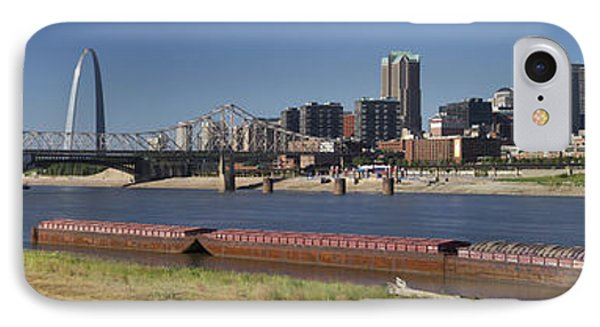 Mississippi River And St Louis Skyline Panorama IPhone Case