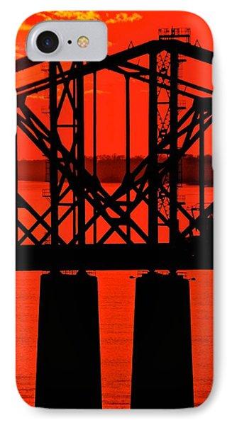 Mississippi River Bridge At Natchez IPhone Case
