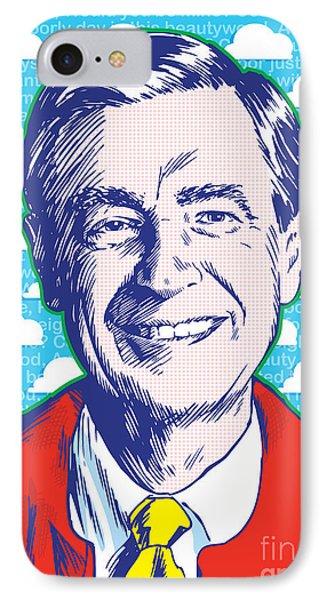 Mister Rogers Pop Art IPhone Case