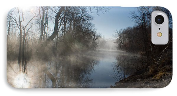 Misty Morning Along James River IPhone Case
