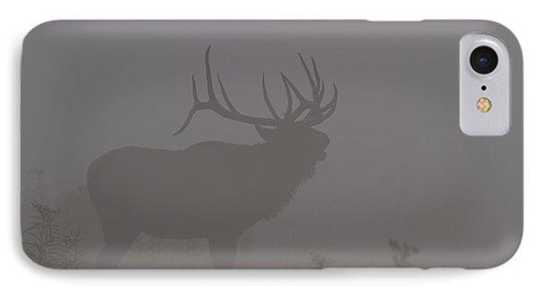 Misty Morning Bull Elk IPhone Case