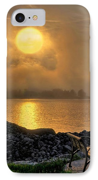 Misty Sunset At The Bay IPhone Case