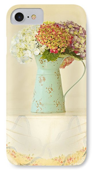 Mixed Hydrangea In Old Can IPhone Case