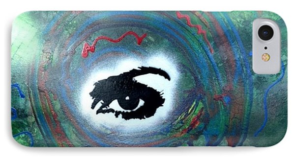 Mixed Media Abstract Post Modern Art By Alfredo Garcia Eye See You IPhone Case