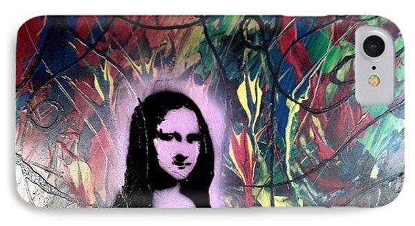 Mixed Media Abstract Post Modern Art By Alfredo Garcia Mona Lisa 2 IPhone Case
