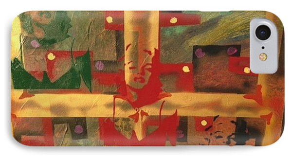 Mixed Media Abstract Post Modern Art By Alfredo Garcia The Blond Bombshell 3 IPhone Case