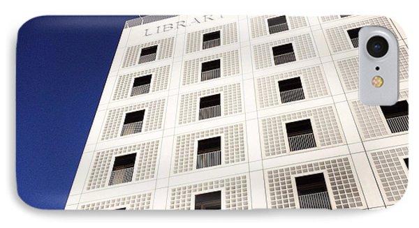 Modern Architecture City Library Stuttgart IPhone Case