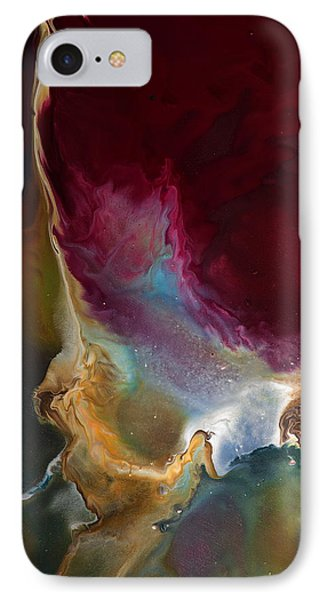 Modern Colorful Earth Tones Abstract Art-achieve The Goal By Kredart IPhone Case