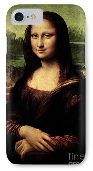 IPhone Case featuring the painting Mona Lisa Painting by Leonardo da Vinci