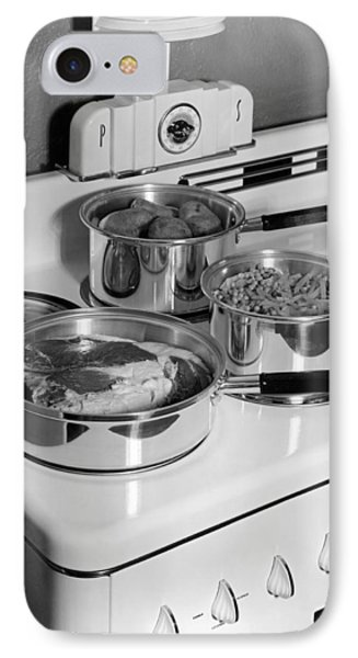 Monarch Stove Top With Dinner IPhone Case