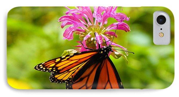 Monarch Under Flower IPhone Case
