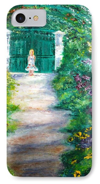 Monet Garden Admirer IPhone Case