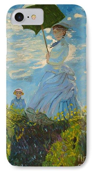Monet-lady With A Parasol-joseph Hawkins IPhone Case