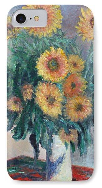 Monet's Sunflowers IPhone Case