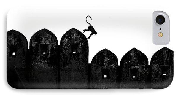 Castle iPhone 8 Case - Monkey by Yasemin Bakan
