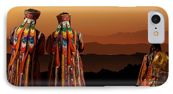 Monks From Bhutan IPhone Case