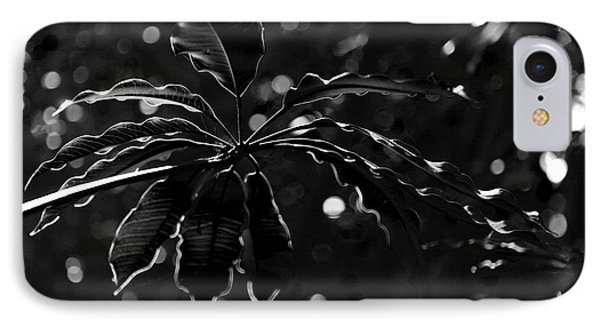 Monochrome Leaf  IPhone Case
