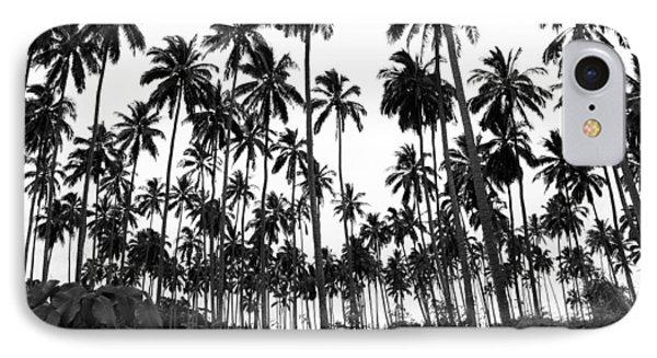 Monochrome Palms IPhone Case