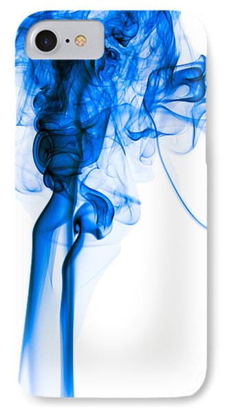 Mood Colored Abstract Vertical Deep Blue Smoke Art 01 IPhone Case