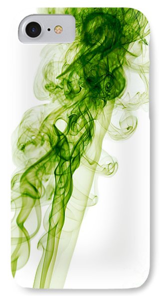 Mood Colored Abstract Vertical Green Smoke Wall Art 01 IPhone Case