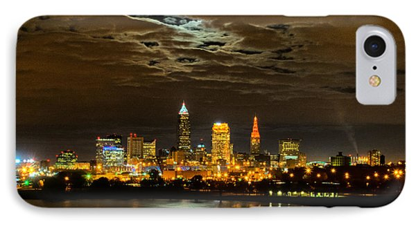 Moon Clouds Over Cleveland IPhone Case