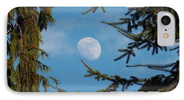 Moon Framed By Trees IPhone Case