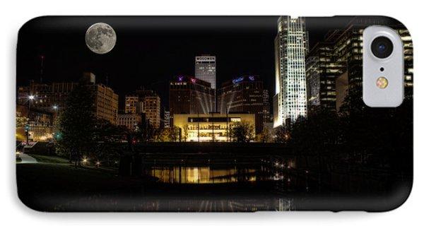 Moon Over Omaha IPhone Case