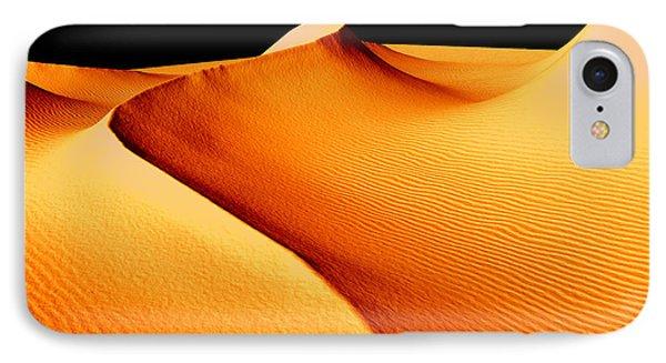 Moon Over Sand Dunes IPhone Case