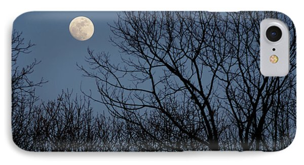 Moon Over Trees IPhone Case