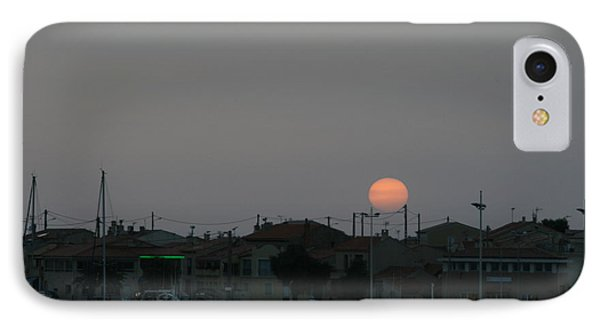 Moon Rising Over Carol South France IPhone Case