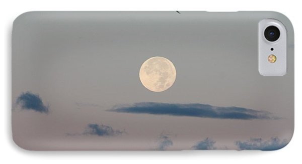 Moon Setting Over Oceanside IPhone Case