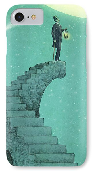 Whimsical iPhone 8 Case - Moon Steps by Eric Fan
