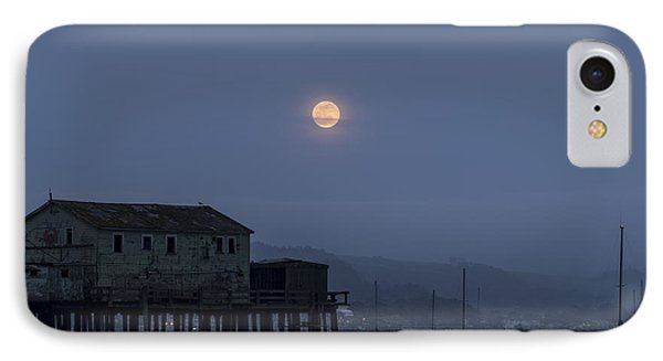 Moonrise Over The Harbor IPhone Case