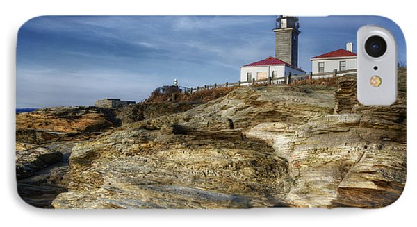 Morning At Beavertail Lighthouse IPhone Case