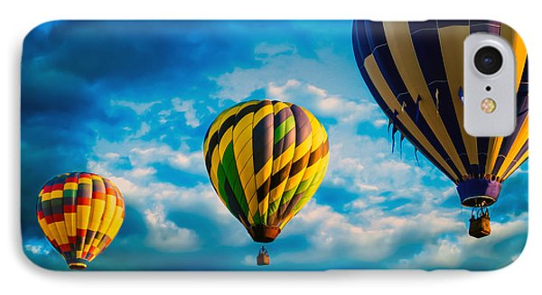Morning Flight Hot Air Balloons IPhone Case