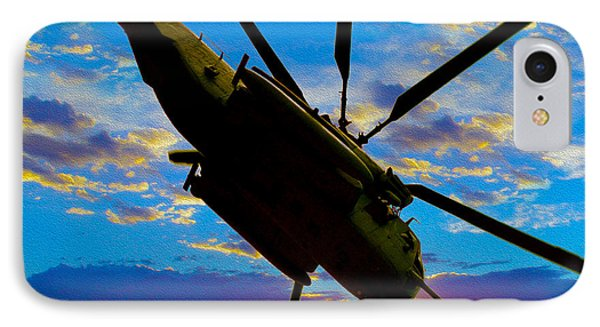 Helicopter iPhone 8 Case - Morning Maneuvers  by Jon Neidert